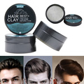 80g Hair Styling Clay Mud for Men Strong Hold Hairstyles Matte Finished Molding Cream Long Lasting Stereotype Hair Mud