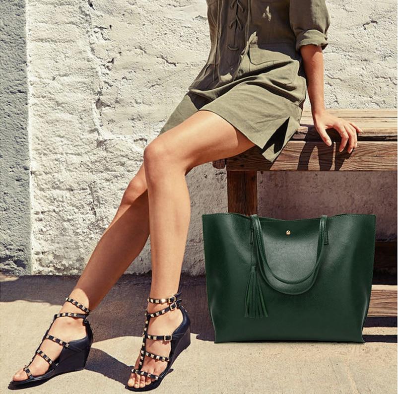 Nevenka Leather Handbag Women Casual Totes Female Shopper Ladies Shopping Bags Large Capacity Bags Vintage Bag for Women 201808
