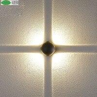 Напольный крест/x бра крыльцо свет ac85 265v 8 Вт творческий Nordic Водонепроницаемый круглый Алюминий Средства ухода за кожей поверхностного монт