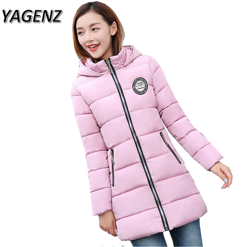 2017 New Winter Women Jacket Warm Hooded Coat Slim Thick Down cotton Long Overcoat Women Parkas Casual Large size Winter Coats 2017 new winter warm hooded long women s coats thick cotton jacket women embroidery letter vintage overcoat parkas abrigos mujer