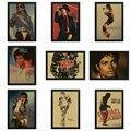 Michael Jackson Vintage Retro rock band music Guitar Matte Kraft Paper Antique Poster Wall Sticker Home Decora