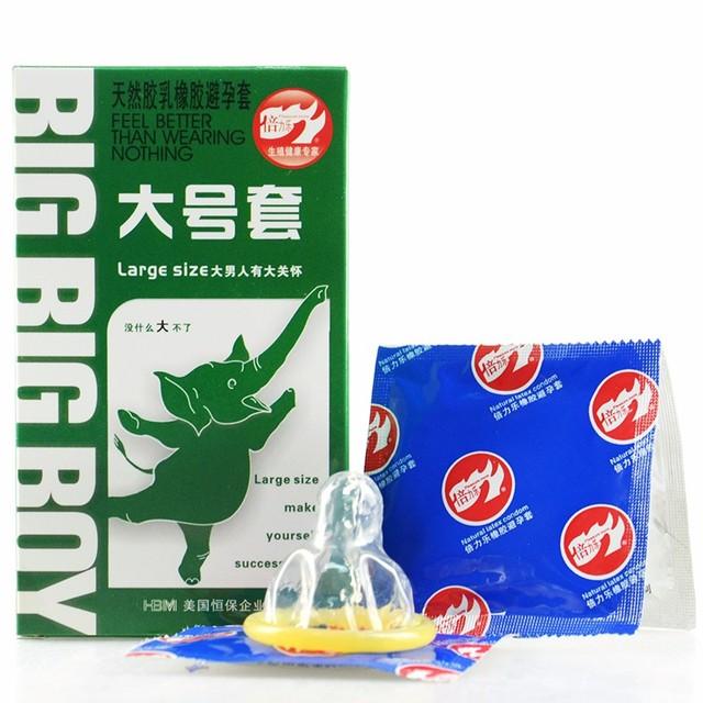 10PCS 55mm Large Size Big XXL Condom Condoms  For Big Cock Horny Men Women Adult Game Latex Thin Slim Sex Products