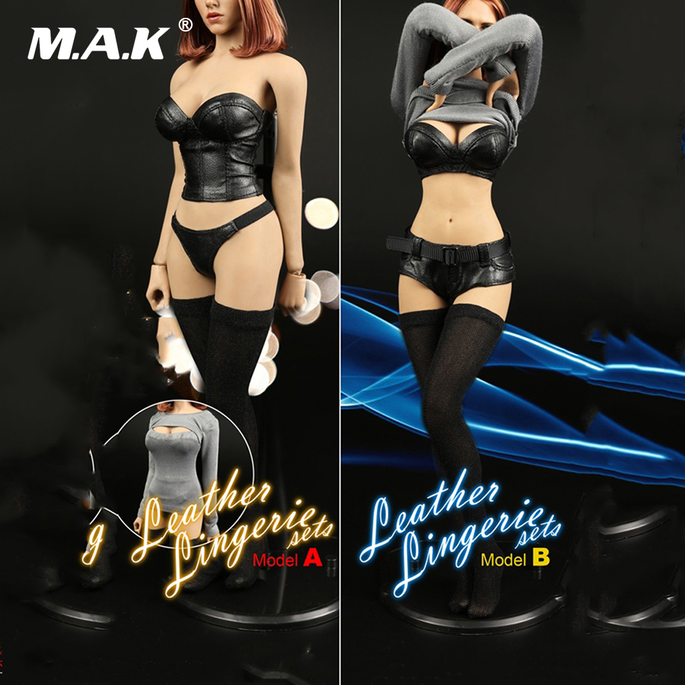 1/6 Scale Sexy Leather Lingerie Set Locomotive Leather Clothes Suit for 12inch Female Action Figure 1 6 scale male clothes suit leather jacket men s jacket suit model for 12 action figure body accessories