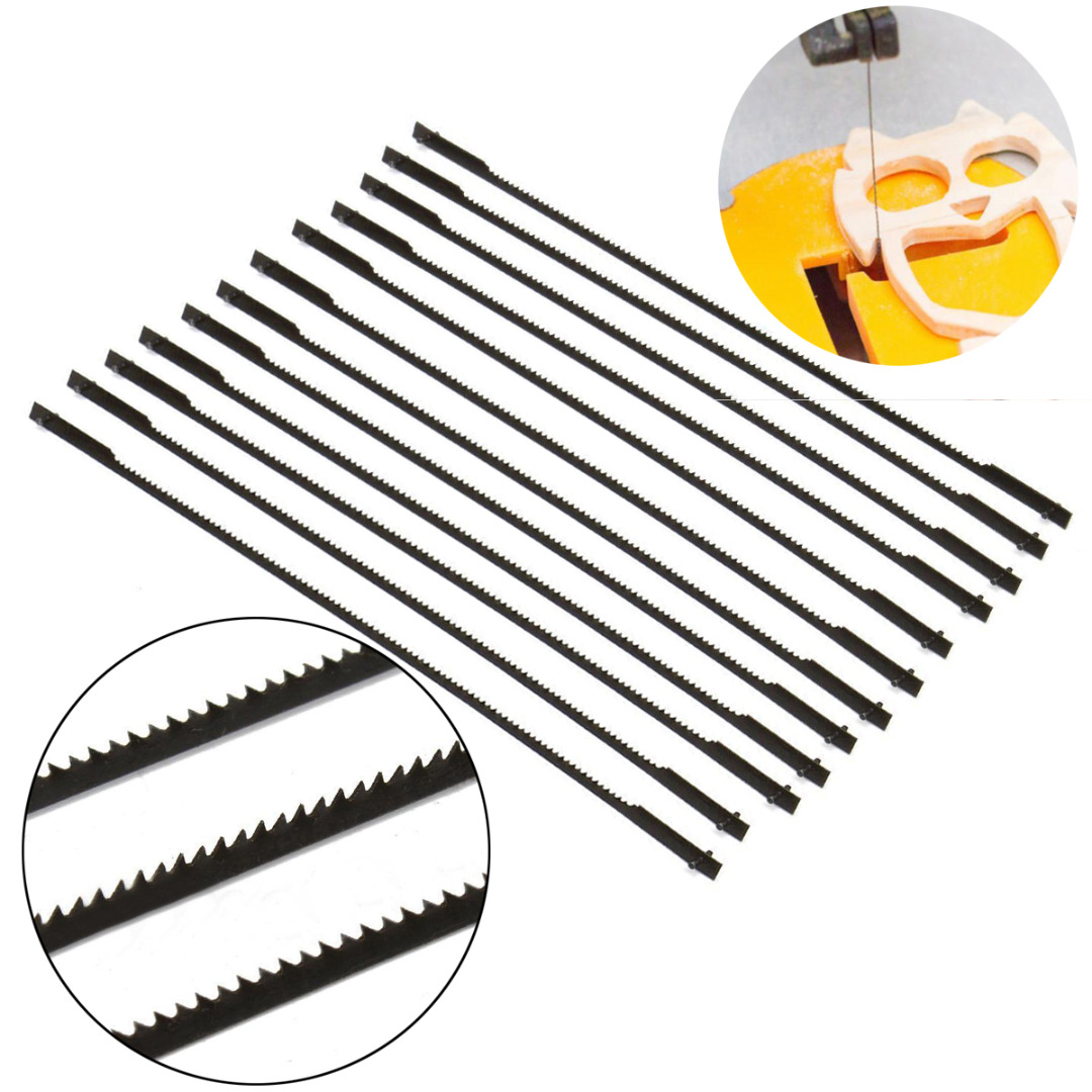 12pcs New 5'' 127mm Pinned Scroll Saw Blades Woodworking Power Tools Accessories