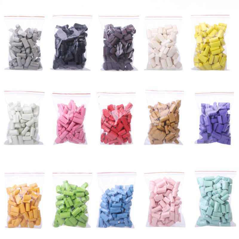 70PCS Slime Mud Filler Clay Decoration Craft Sponge Strip Foam Beads Kids Toys Christmas Gifts 15 colors Slime Clay Accessories