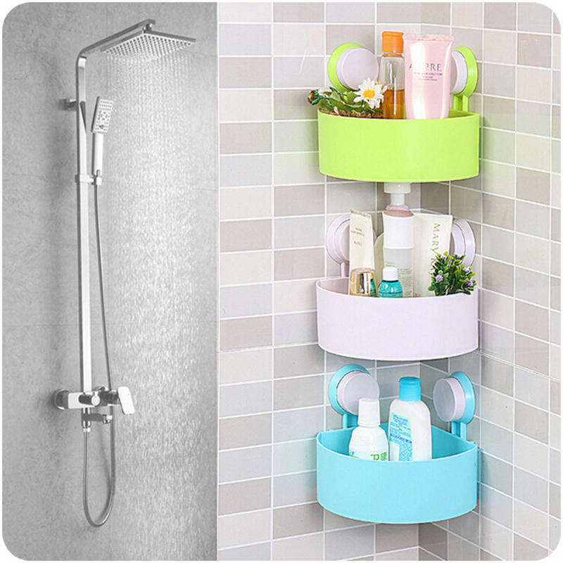Bathroom Kitchen Storage Holder Kitchen Washroom Corner Rack Wall ...
