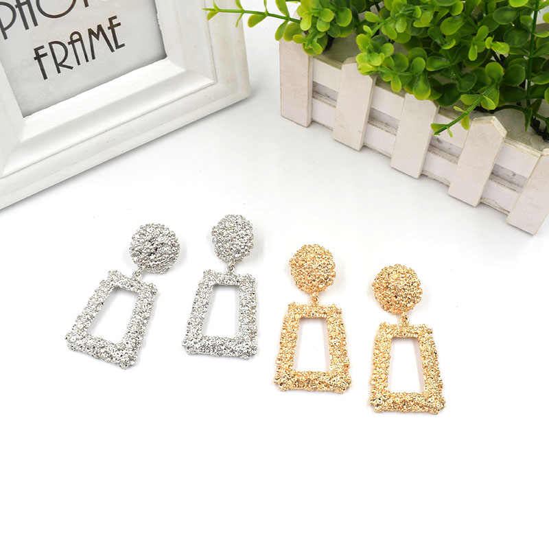 EK171 European Brand Vintage Earrings for Women Geometric Statement Earring 2019 ZA Jewelry Metal Earing Fashion Jewelry Trendy