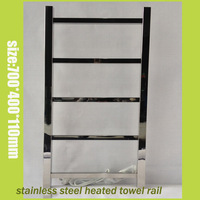 Free Shipping 304 Towel Rail Stainless Steel Heated Towel Warmer Mirror Polish Towel Warmer 5Bars Size