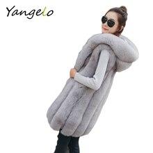 Fox fur fur 2016 new fashion fur vest women 's Korean version of the long coat
