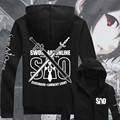 Sword Art Online Man Woman anime Zipper Jacket Sweatshirts Hoodie Coat Clothing Casual