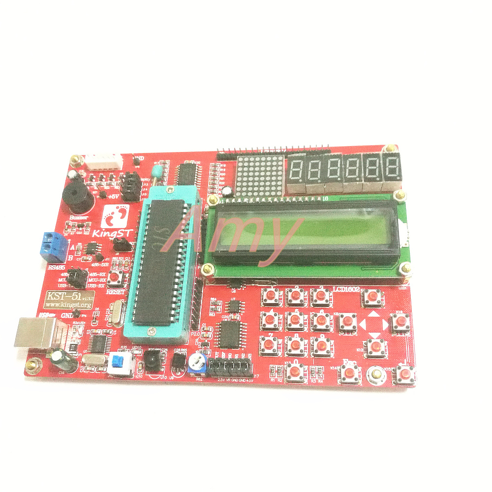 Teach you to learn microcontroller (Video + document) tutorial KST-51 MCU development board learning boardTeach you to learn microcontroller (Video + document) tutorial KST-51 MCU development board learning board