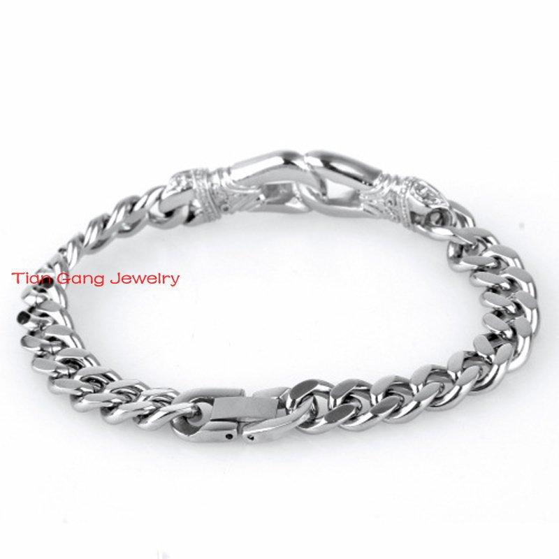 New Best Design Men\'s Bracelets Silver Chain Link Bracelet ...