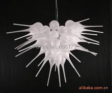 New Arrival 100% Hand Blown Glass White Chandelier