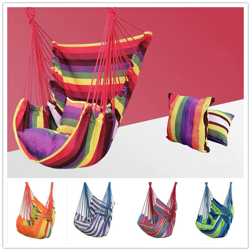 Hammock Chair Swing Chair Seat Travel Camping Hammock Outdoor Garden Adults Kids Hanging ChairHammock Chair Swing Chair Seat Travel Camping Hammock Outdoor Garden Adults Kids Hanging Chair