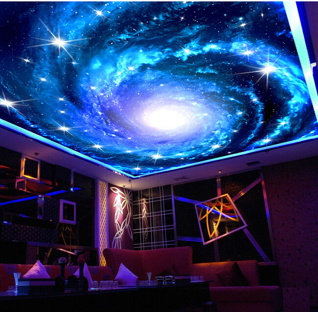 Custom Wallpaper Universe, The Milky Way Stars Used For The Bedroom Ceiling  KTV Bar Wall