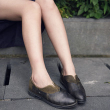 Original design 2016 autumn new women shoes genuine leather vintage shoes retro flat pointed toe set foot casual shoes