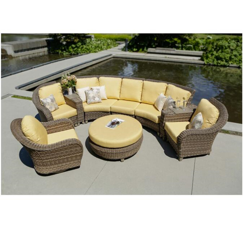 US $1329.05 5% OFF|New arrival all weather rattan used patio living room  modern low arm sofa-in Garden Sofas from Furniture on Aliexpress.com | ...