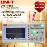 UNI-T utd2102cex 100 mhz osciloscópio de armazenamento digital/2 canais/1gs/s taxa de amostragem