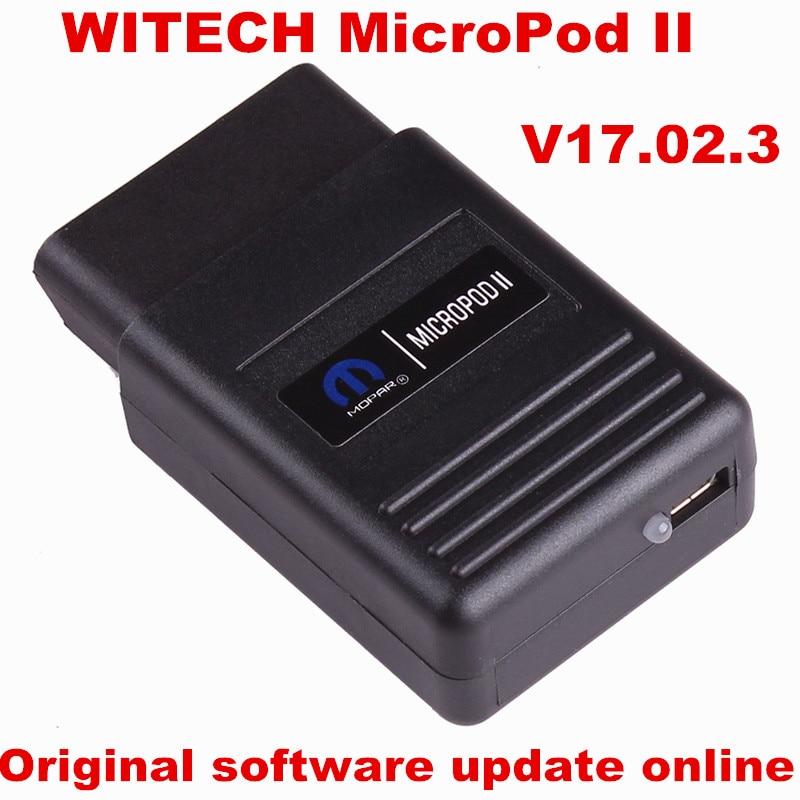 Prix pour D'origine WITECH MicroPod II logiciel V17.02.3 mise à jour en ligne WITECH MicroPod 2 Pour Chrysler/Dodge/Jeep/Fiat de diagnostic outil