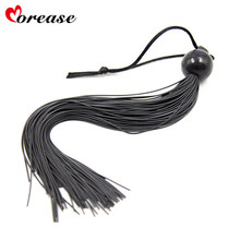 Morease Sex Whip Beads Handle Sexy Fetish BDSM Spanker Bondage Flirt Flogger Erotic Product Toys Slave for Couple Adult Game