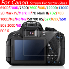 Camera LCD Screen Protector For Canon 5D Mark III IV EOS 6D 7D Mark II 100D M3 200D 650D 1200D SX600 G7X Tempered Glass LCD Film адаптер для объектива pixco emf af canon fd xx canon ef 7d ii 70d 5d iii 100d 700d 650d 1200d