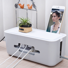 Wire Storage Box Cable Manager Organizer Box Power Line Storage Cases Junction Box Plastic Household Charger Cord Box  JJ236 orico cmb18 abs electrical socket storage box power cable manager case