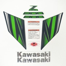 Moto carro de alta qualidade 3d 3 m etiqueta fit para a kawasaki z800 Z800 2013-2016year cor verde