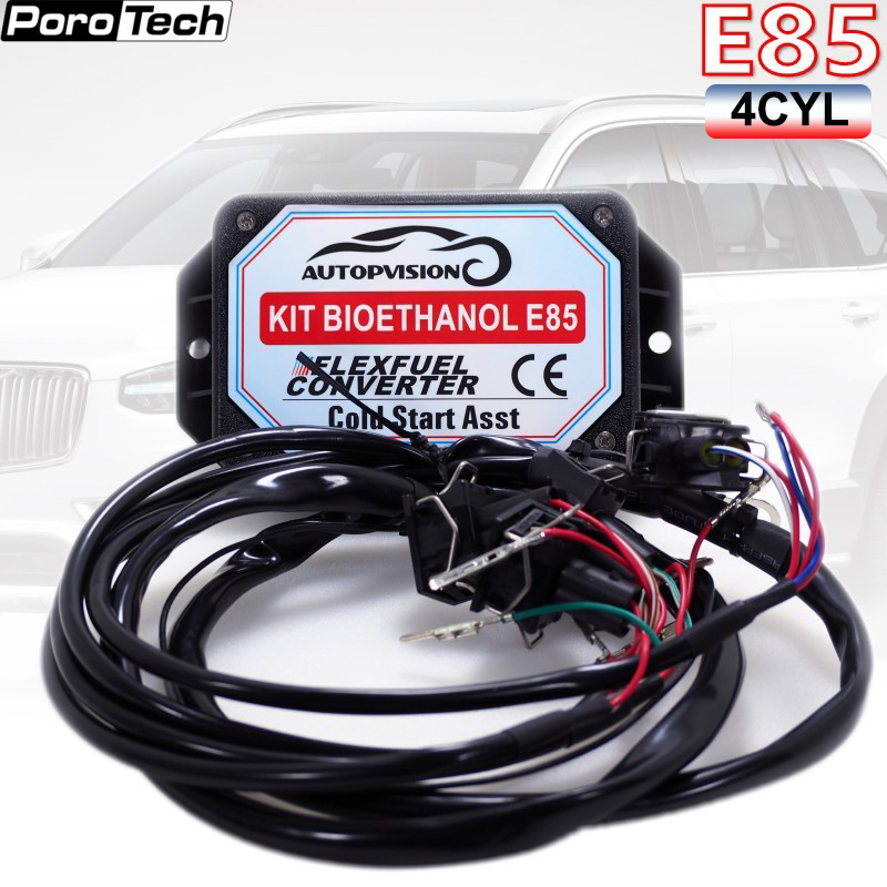 New E85 4cyl Autocar Conversion Kit Flex Fuel Ethanol Alternative Cold Start Asst. Biofuel E85, Ethanol Car Bioethanol Converter