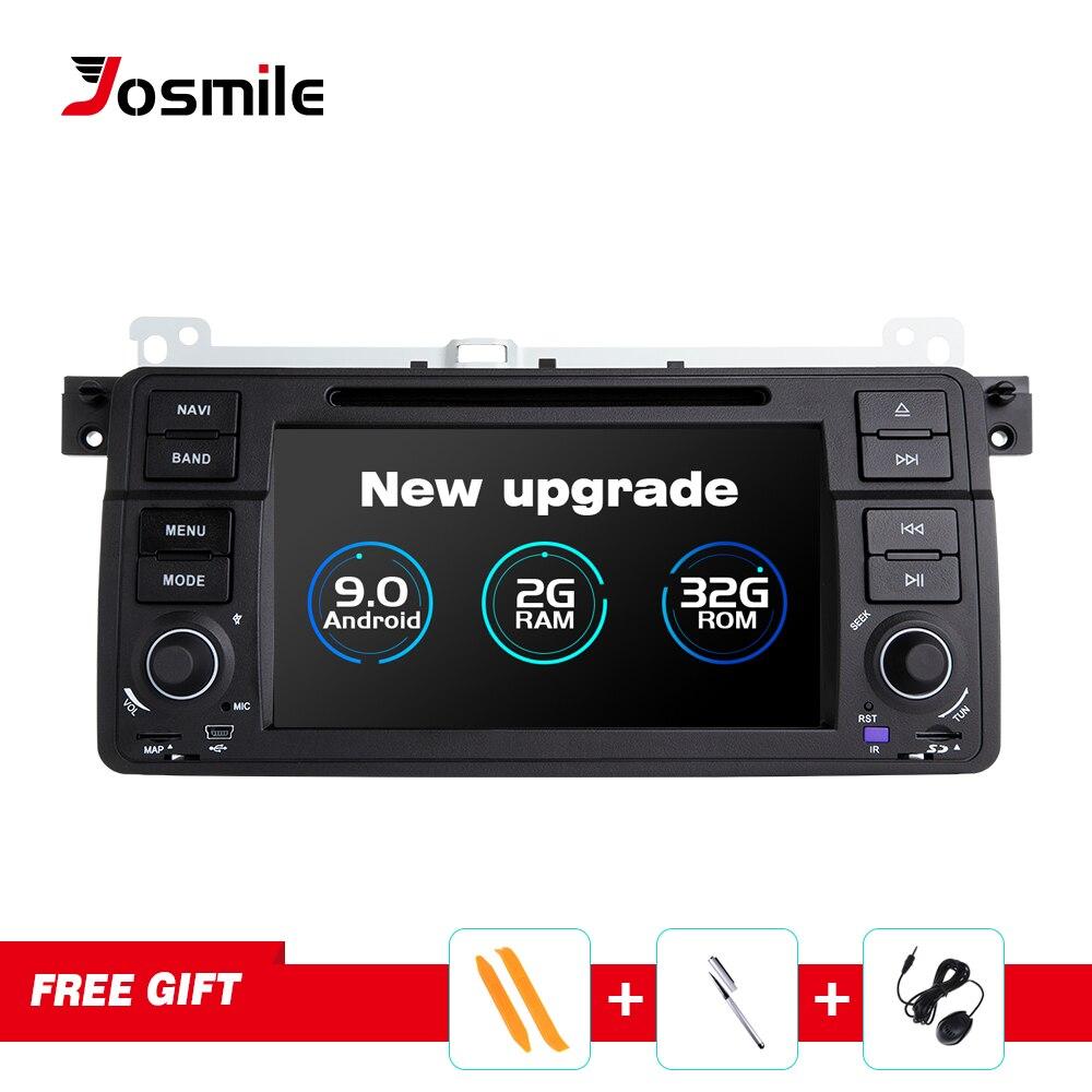Josmile Reprodutor multimídia Carro Din Android 9.0 Para BMW E46 1 M3 Rover 75 Coupe Navegação GPS DVD Rádio Do Carro 318/320/325/330/335