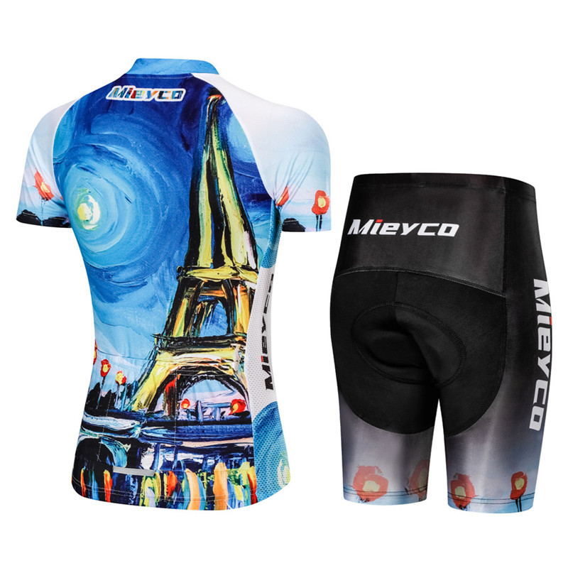 Cycling Sets Women Short Sleeve Road Bike Clothing Pro France Team Bicycle Uniform Roupa De Ciclismo Bib Short Pant Cycle Wear in Cycling Sets from Sports Entertainment