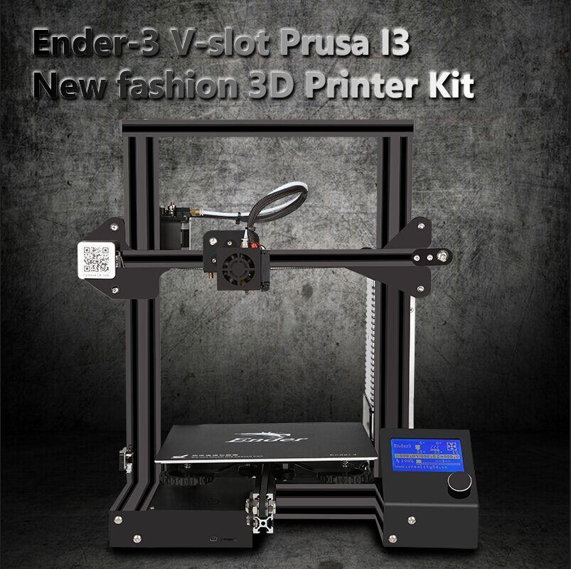 Newest Ender-3 3D Pinter KIT DIY with Tempered Glass Large Print Large Size Continuation power V-slot Prusa i3 Metal Printer 3D