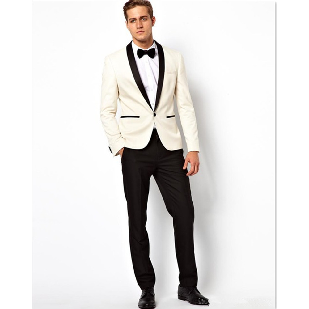 2017 Men Suit Set Ivory Colour Blazer Regular Styles Jacket Pants Customized Suits For Wedding Prom Groom Best Man Tuxedos In From Mens
