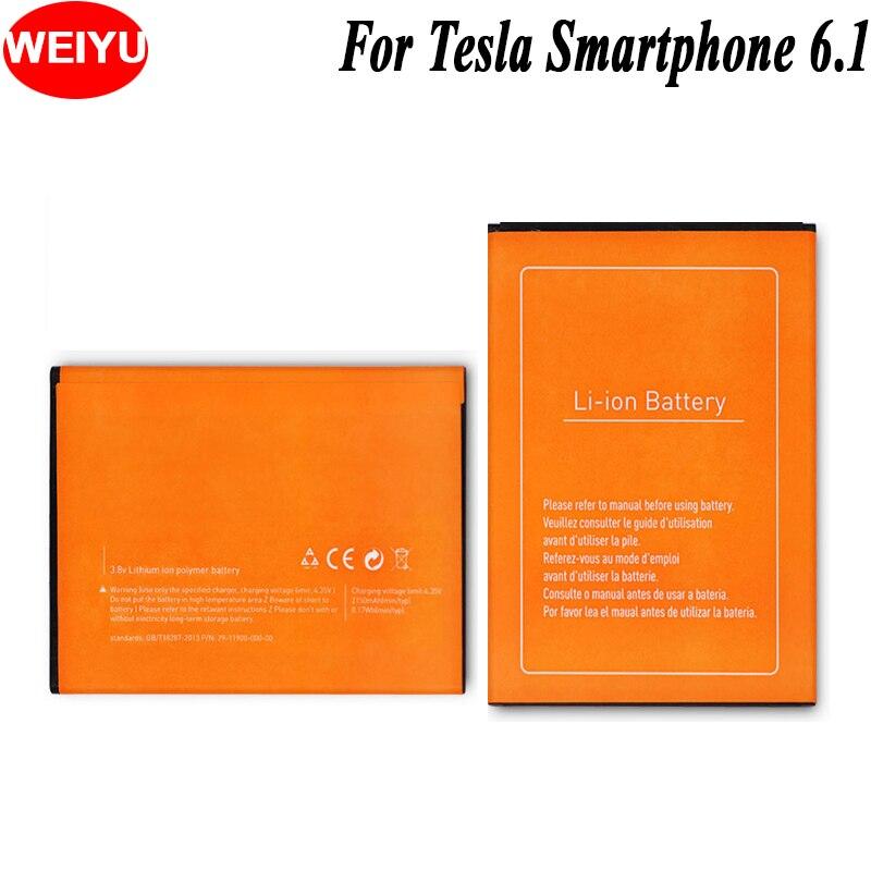WEIYU 10 PCS/LOT pour Tesla Smartphone 6.1 batterie de téléphone pour Tesla Smartphone 6.1 Batteries de remplacement 2150 mAh haute capacité