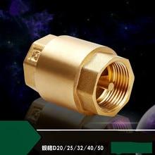 1 шт. DN15/DN20/DN25 NPT латунная резьба в линии пружинный обратный клапан 25 мм диаметр 200WOG для контроля воды
