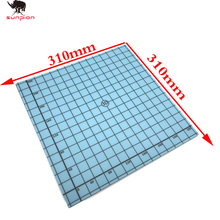 Magnetic Print 310*310 Heat Hot Bed Sticker Coordinate Printed Hot Bed Surface Sticker blue for 3D Printer Accessories 1pcs