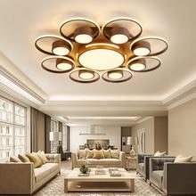 Led living room lamp simple modern flush mount ceiling light household creative ceiling lamp led ceiling remote bedroom lamps цена в Москве и Питере
