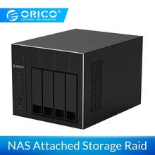 ORICO 2.5 3.5 ''NAS 4-Bay Network Attached Storage met RAID HDD Case Gen7 SATA naar USB 3.0 HDMI RJ45 Audio USB2.0 SSD Case 48TB(China)