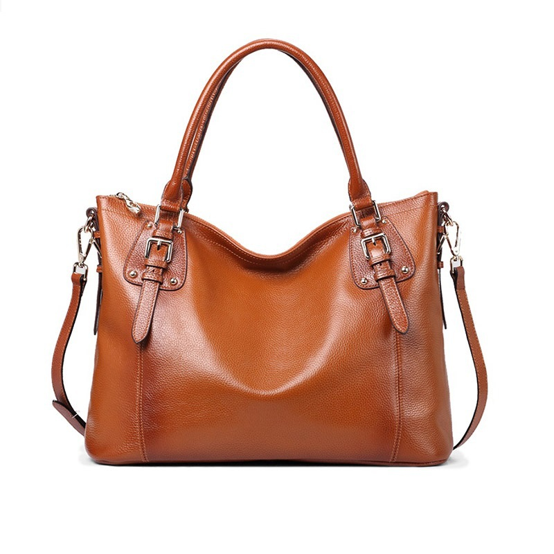 Women Big Tote Bag Genuine Leather 2015 New Fashion Women's Shoulder Bag And Ladies Vintage Solid Rivet HandBags Women Tote Bag 2017 new arrival designer women leather handbags vintage saddle bag real genuine leather bag for women brand tote bag with rivet