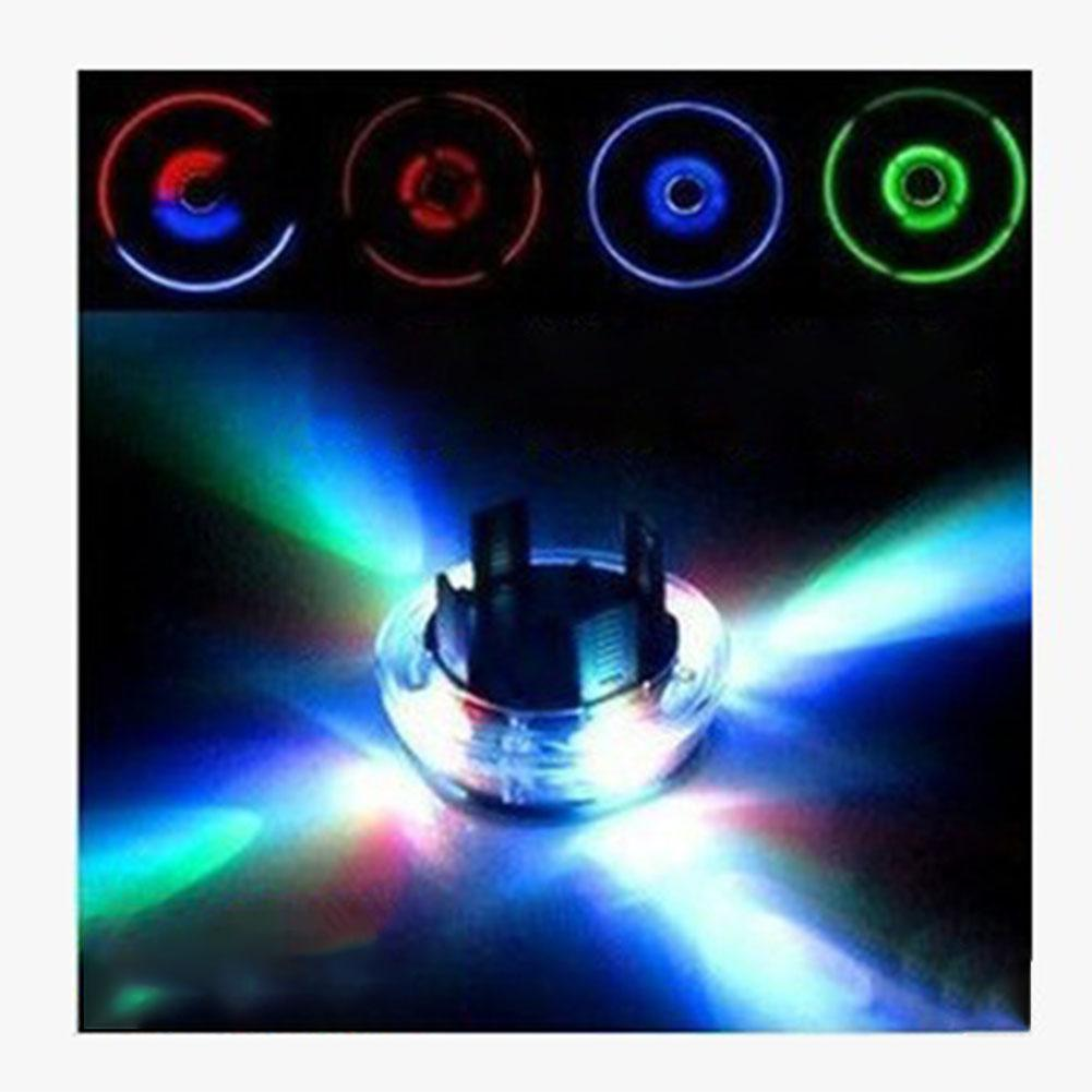LumiParty Attractive 4 Modes 12 LEDs cycling bicycle bike light for Car Auto Solar Power Saving Flash Wheel Light Decor