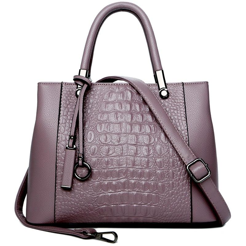 En Main Sacs Sac Crocodile tout Cross Bolos Fourre purple Marque Mode Nouvelle Designer Et De À Jiessie Body Réel D'épaule Angela Cuir burgundy Femmes Bourse Black fFw0q7x1