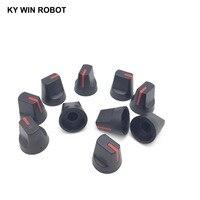 potentiometer knob 10PCS 6mm Potentiometer Plastic Knob Red (5)