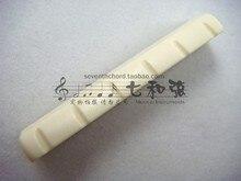 A027I elfenbein kunststoff 42*6*8,2-8,5 MM elektrische gitarre oberen violine mutter/vordere violine brücke/oberen string mutter/string brücke
