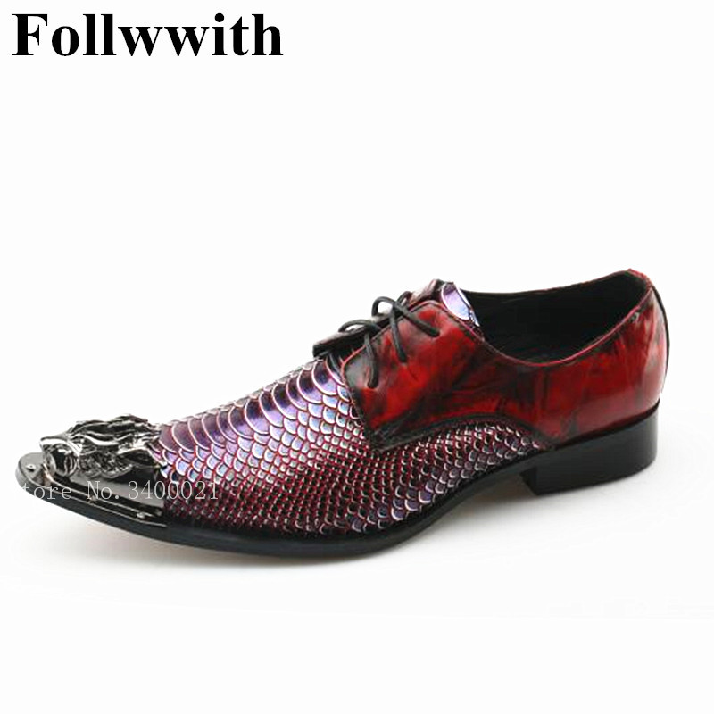 2018 Sexy Party Wedding Snakeskin Leather Metal Animal Decor Crystals Studded Pointed Toe Men Casual Shoes Lace Up Flats Shoes bismuth crystals bismuth bi metal crystal rainbow bright metal mineral specimen original nature art artwork decorative article