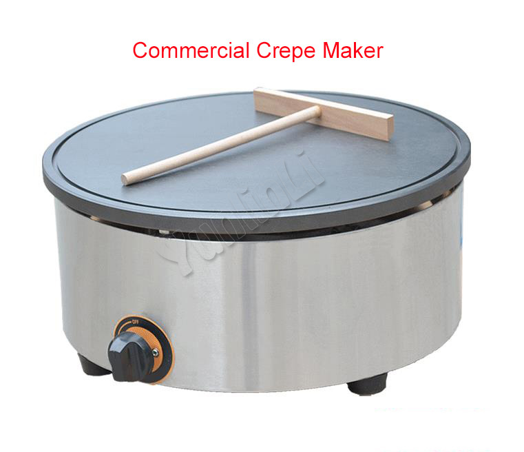 Gas Type Crepe Maker/Gas Pancake Maker/Pancake Pan/Commercial Pancake Maker/Non-stick Crepe Maker FY-420.R gas type crepe maker machine pancake maker commercial scones making machine non stick coating pan