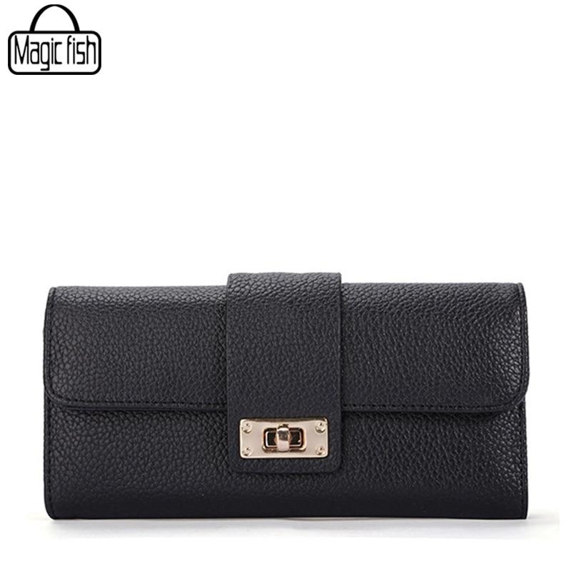2018 Fashion Lock Wallet For Ladies Women Wallet Quality Leather Wallet Elegant Female Purses Ladies Wallets Women Purse A4050/l