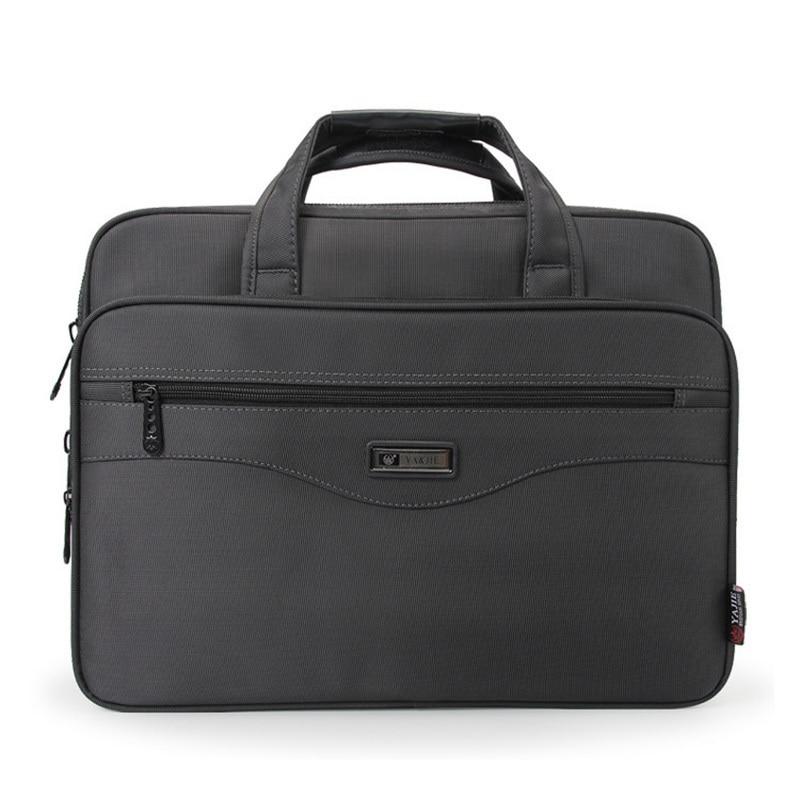 Oyixinger High Quality Men Business Briefcase Laptop Bags Nylon Cloth Waterproof Handbags Gentleman Shoulder Office Work Package