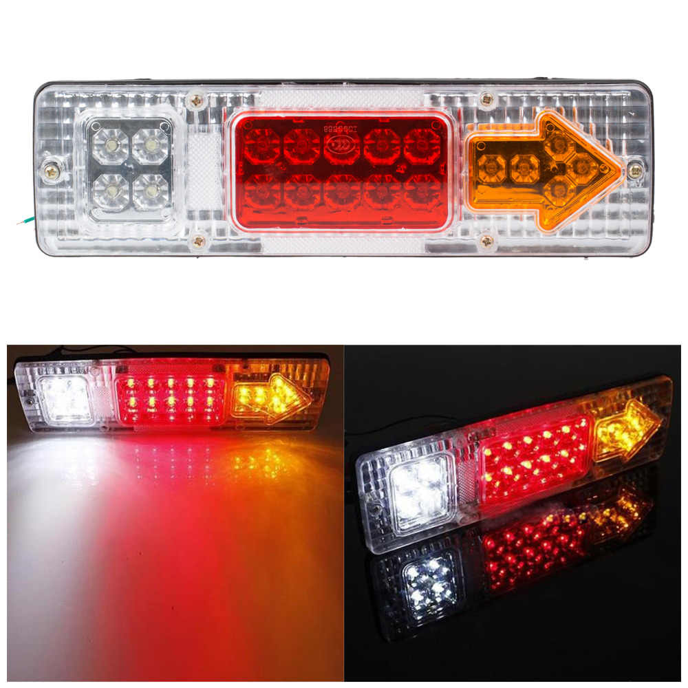 1 Pair 12V Led Truck Tail Light Rear Lights Trailer Turn Signal Warning Light Lorry Caravan Stop Rear Tail Indicator Light Lamp