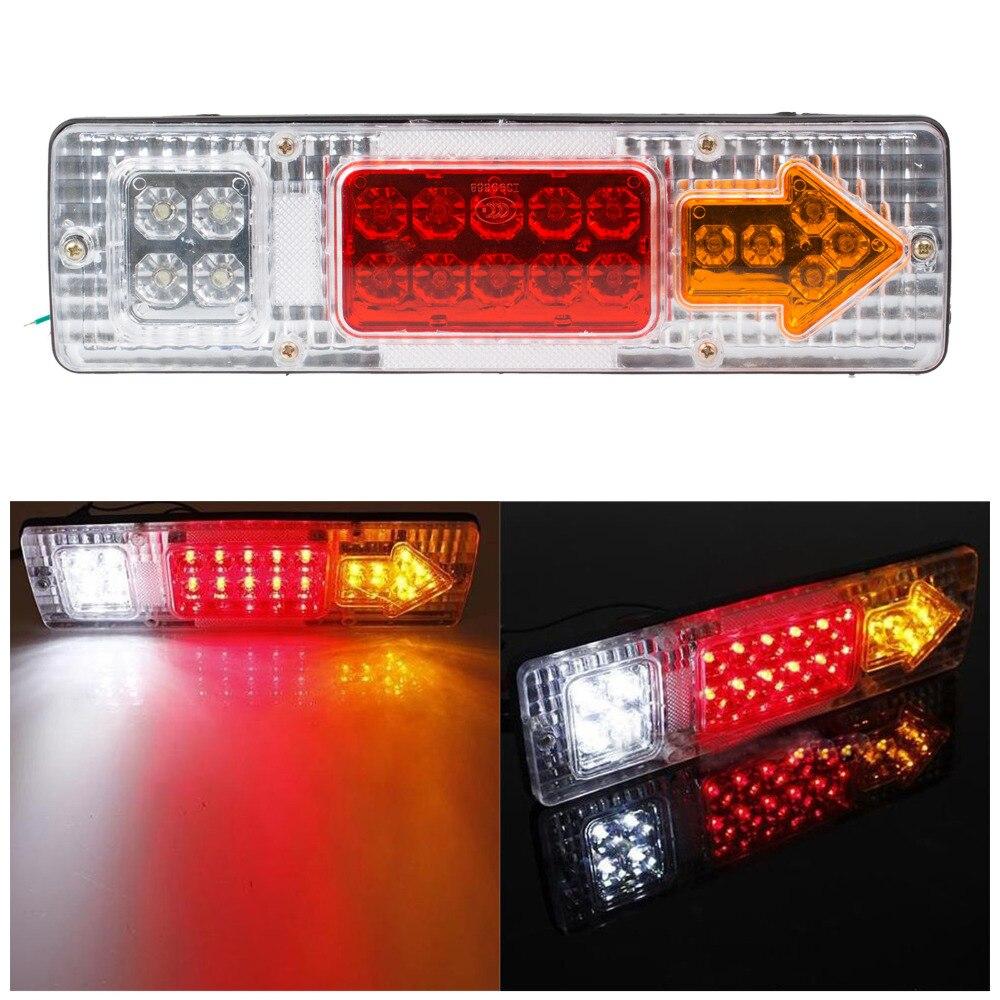 1 Pair 12v Led Truck Tail Light Rear Lights Trailer Turn