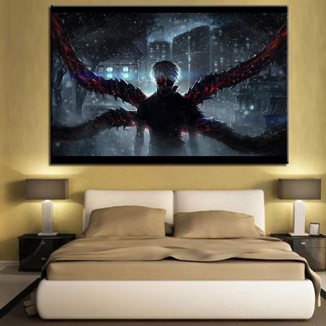 Tokyo Ghoul Kaneki Ken Painting HD Prints Canvas Wall Art