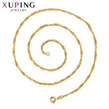 Xuping Fashion Jewelry for Women Girls Popular Pure Gold Color Plated Necklace Pretty Birthday Gifts S122.9-45140